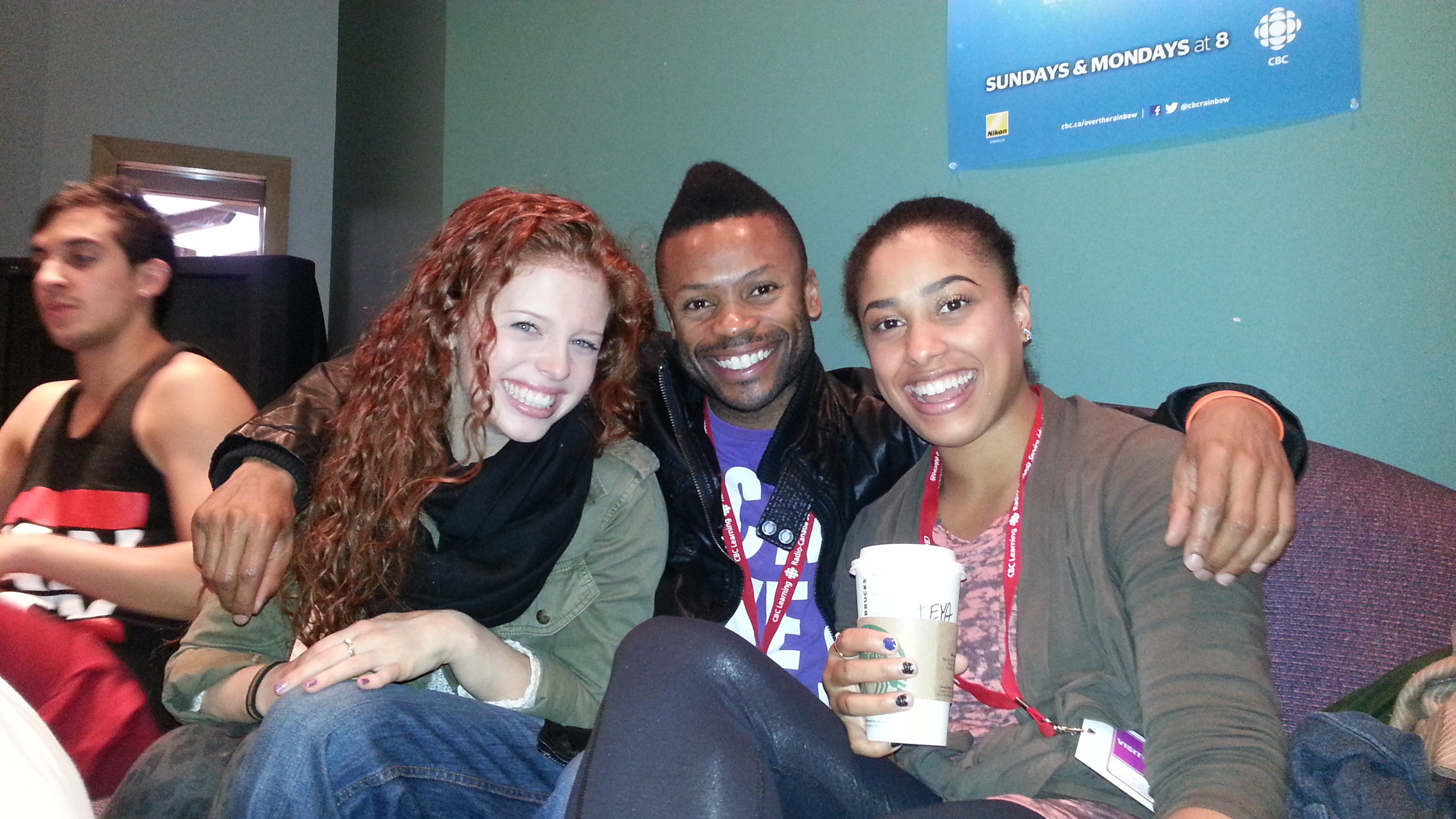Shawn Byfield with former student SYTYCD Canada's Jordan Clark and Teya Wild