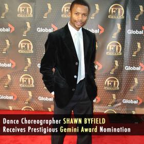 Shawn Byfield Gemini Award Nominee