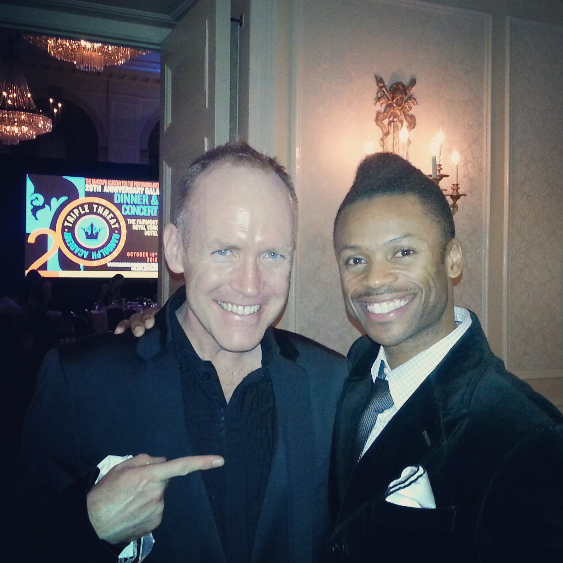 Shawn Byfield choreographer with TV's Rich Bride Poor Bride celebrity David Connolly