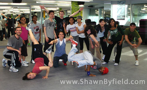 Some Toronto students learning to Hip Hop Dance.