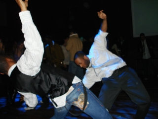 Hip hop dance in the club