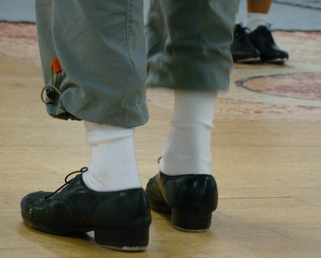 Tap shoes on Shawn Byfield