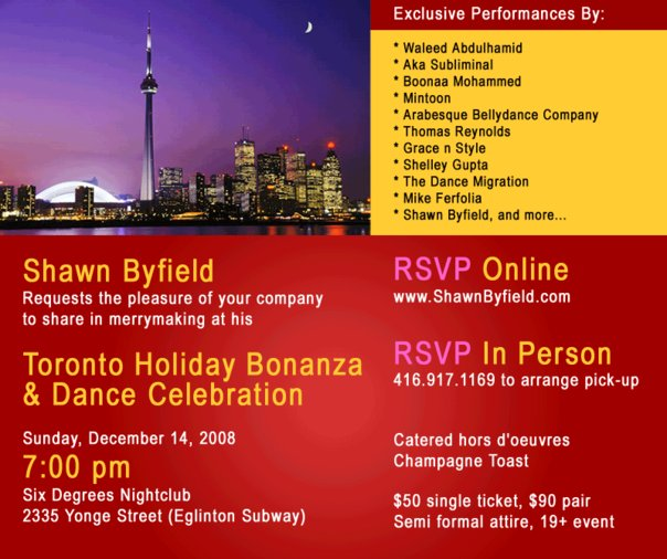 Toronto Dance Holiday Event