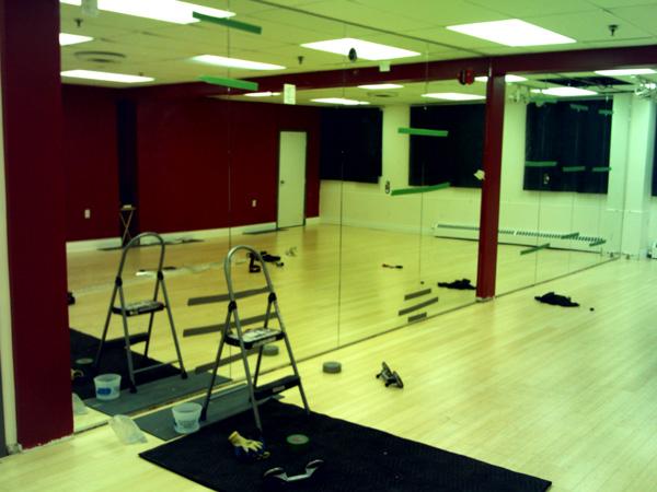 toronto dance studio mirrors are shiny shawn byfield