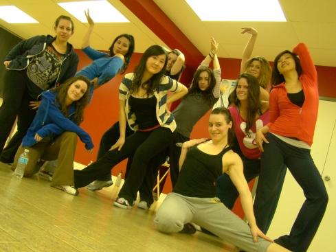 BDX dancers in Toronto hip hop class
