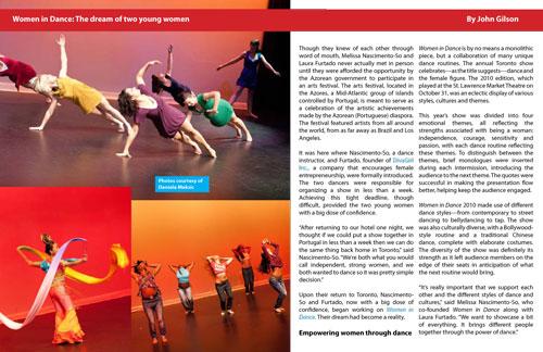 Toronto Dance Experience Magazine