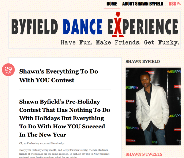Shawn Byfield dance contest