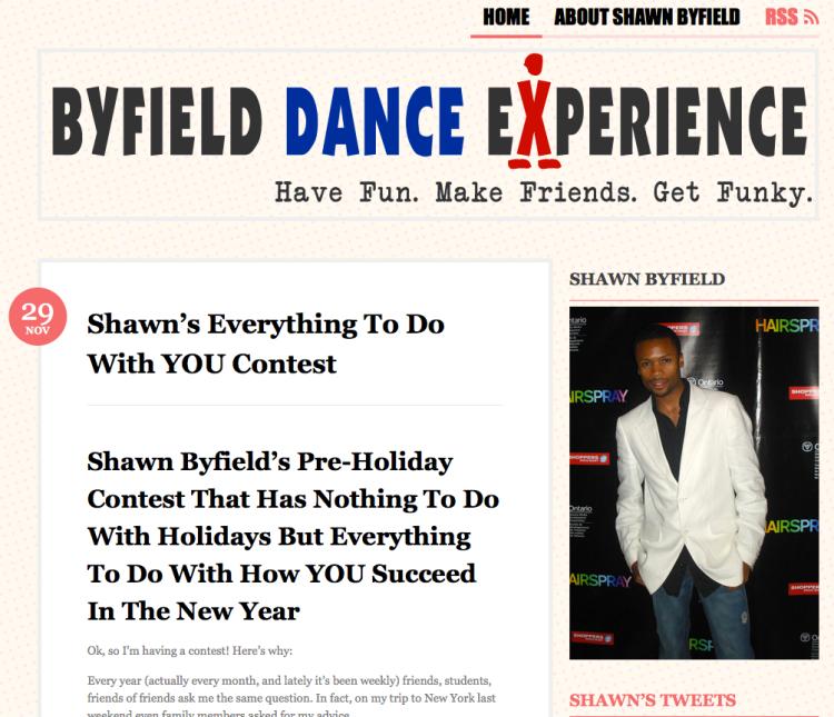 Shawn Byfield dance contest