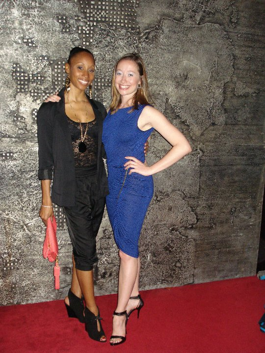 Tangara Jones & Jennifer Stewart work the red carpet.