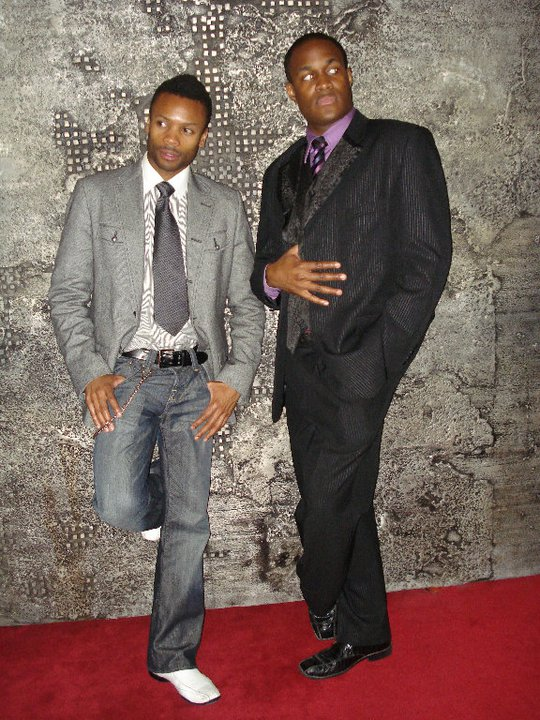 Co-creator & Choreographer Shawn Byfield strikes a pose with cast member Matthew Brown