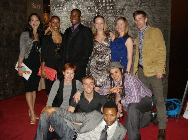 The cast of I Think I Can all smiles at Canada's National Arts Centre.