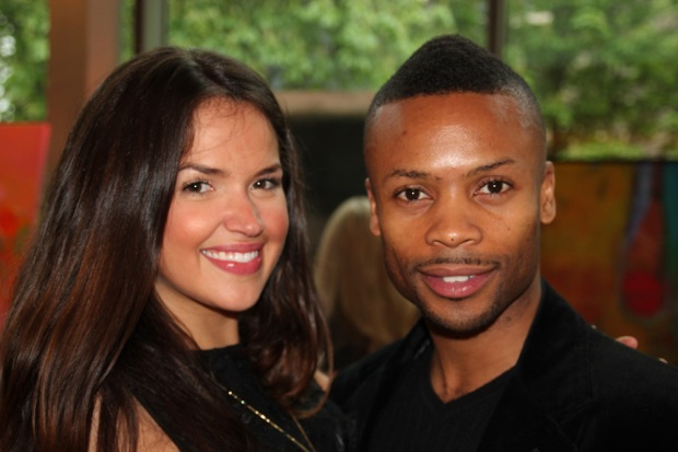 Canadian actor and producer Tamara Duarte with choreographer Shawn Byfield