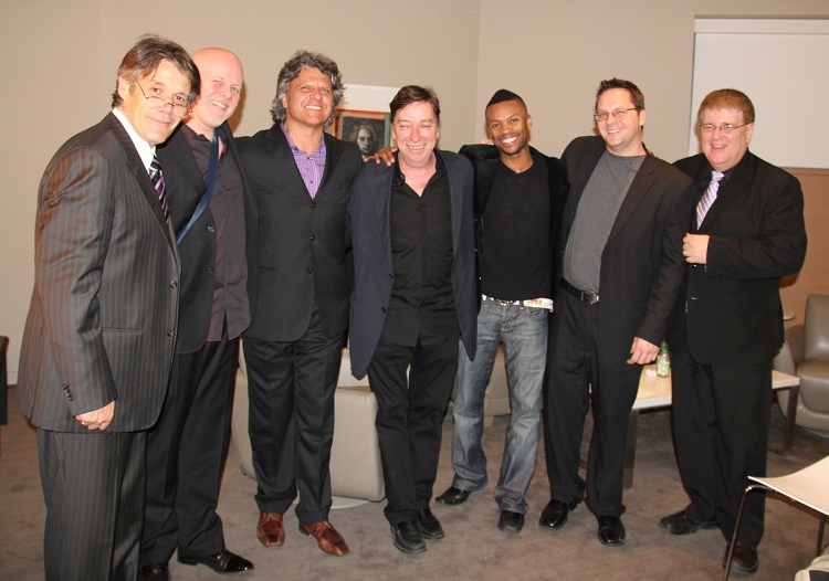 Shawn Byfield shares a moment with Canada's top in Jazz.