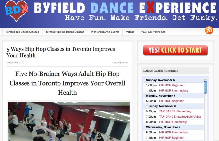 Adult hip hop class Toronto