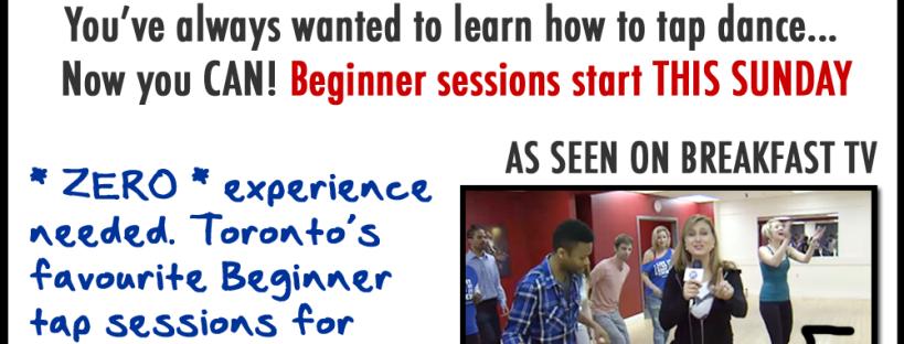 Beginner tap dancing classes Toronto