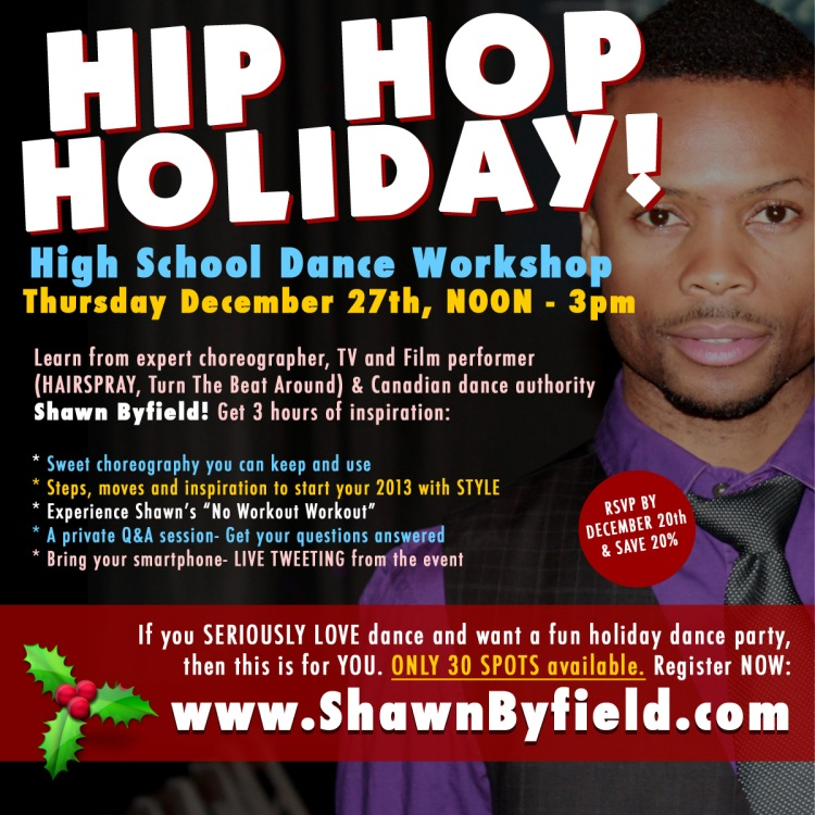 Shawn Byfield's Toronto Hip Hop Holiday Workshop
