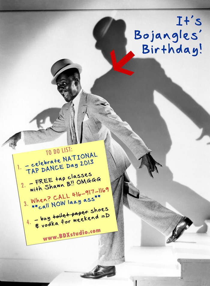 National tap dance day in Toronto with Shawn Byfield