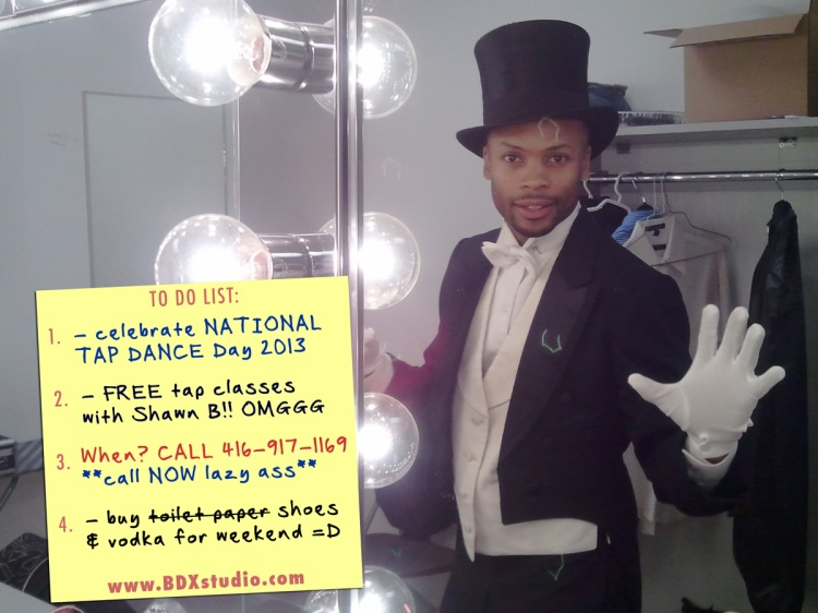 National Tap Dance Day in Toronto at Byfield Dance Experience