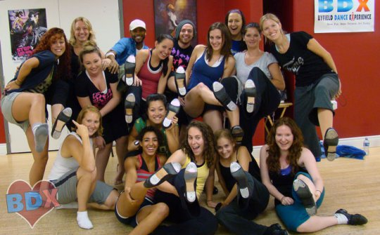 SYTYCD guest Everett Smith at BDX tap intensive