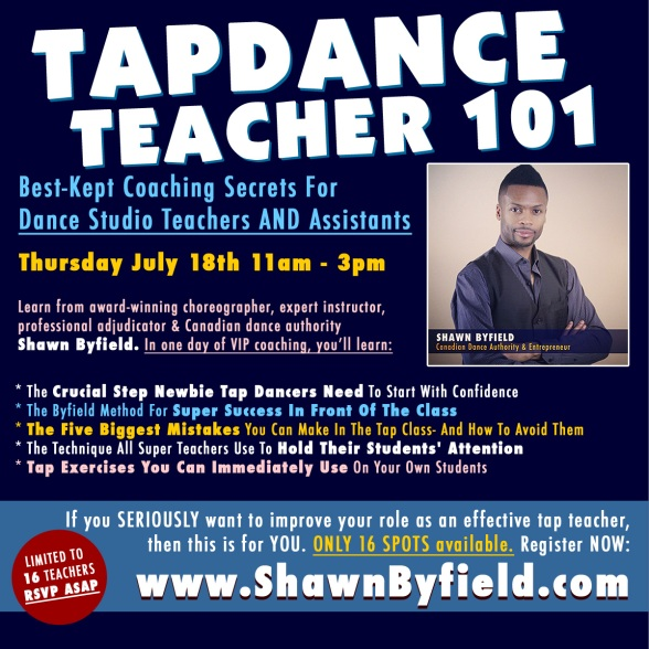 Toronto tap dance workshop for Teachers