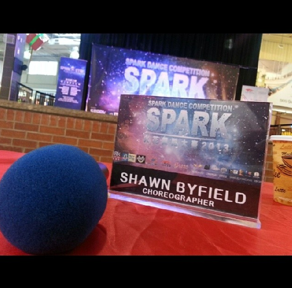 Shawn Byfield, leading choreographer & speaker judges Spark Dance Competition