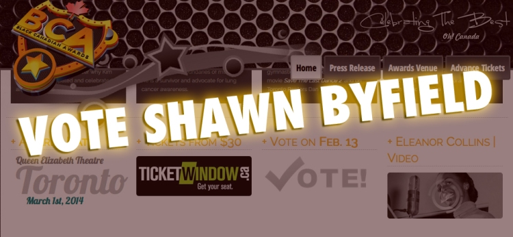 VOTE Black Canadian Awards nominee Shawn Byfield