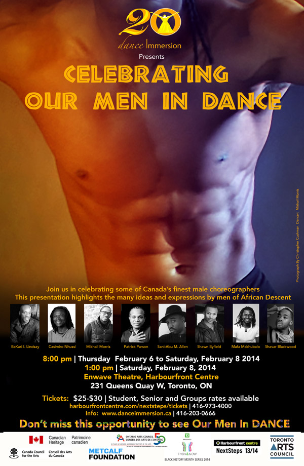 Shawn Byfield featured choreographer in Celebrating Our Men In Dance Showcase Presentation 2014