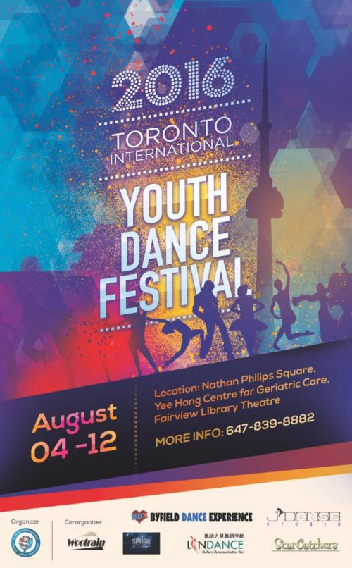 Shawn Byfield hosts the Toronto International Youth Dance Festival