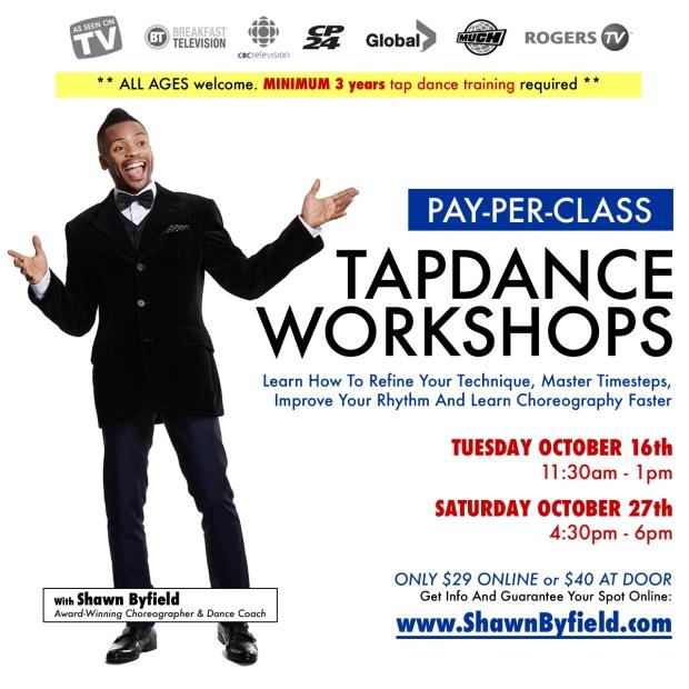 Tap dance workshop Toronto with Shawn Byfield