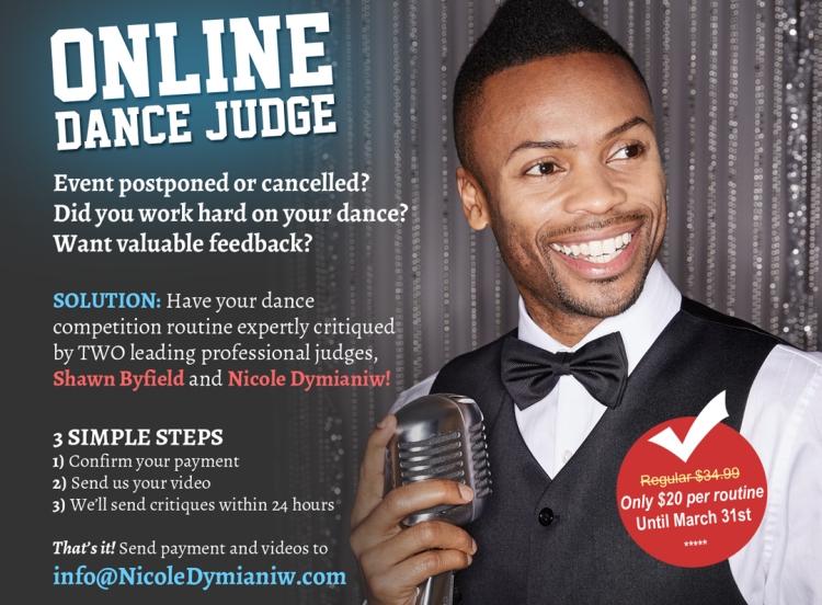 Shawn Byfield online dance judge